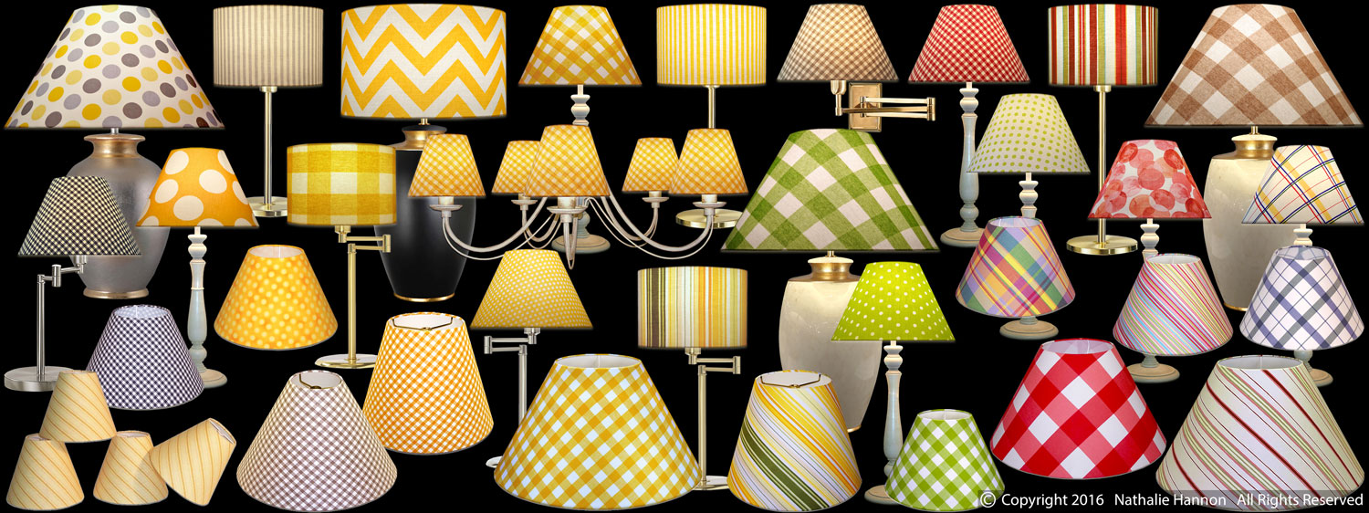 Lampshades Stripes - Checks - Dots