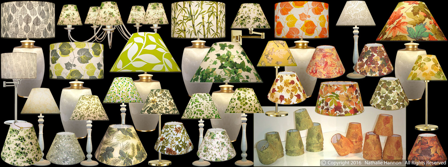 Lampshades Leaves