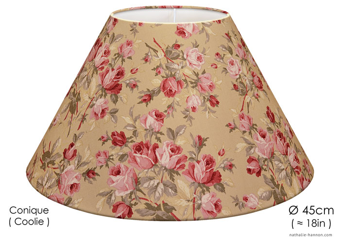 Lampshade Roses Anciennes