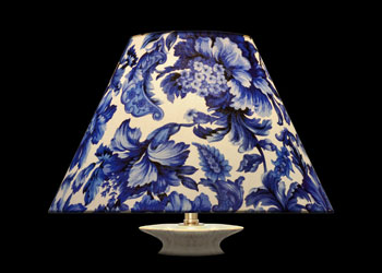 Lampshades Blue Florals