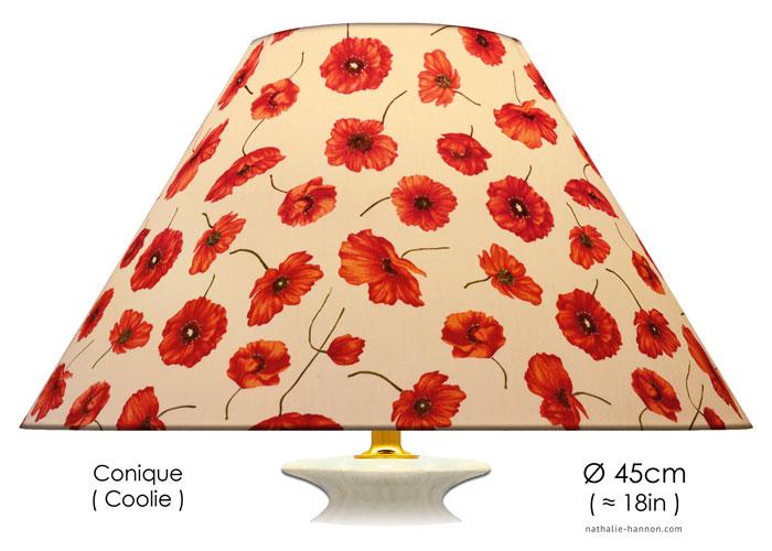 Lampshade Coquelicot