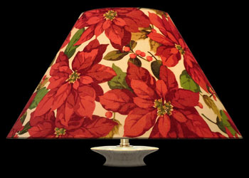 Lampshades Poinsettias