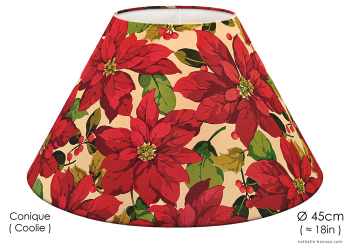 Lampshade Poinsettias
