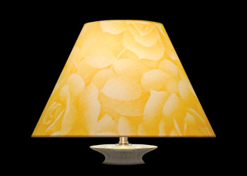 Lampshades Yellow Roses