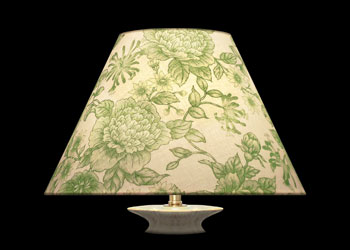 Lampshades Green Florals