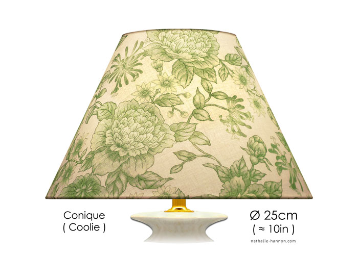 Lampshade Green Florals