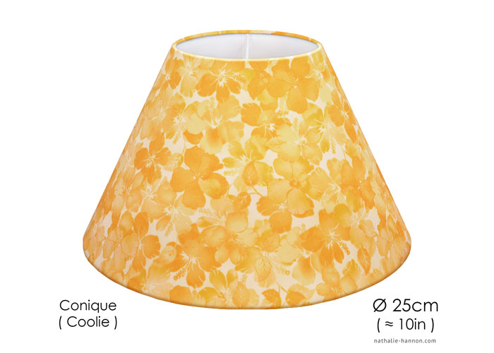 Lampshade Golden Florals
