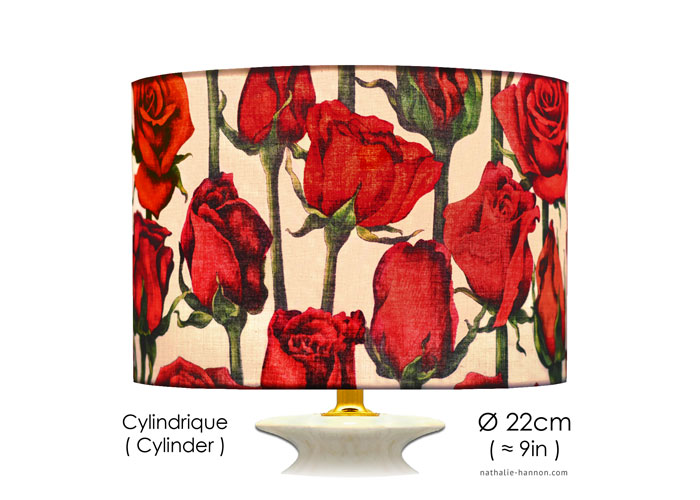 Lampshade Roses et Tiges