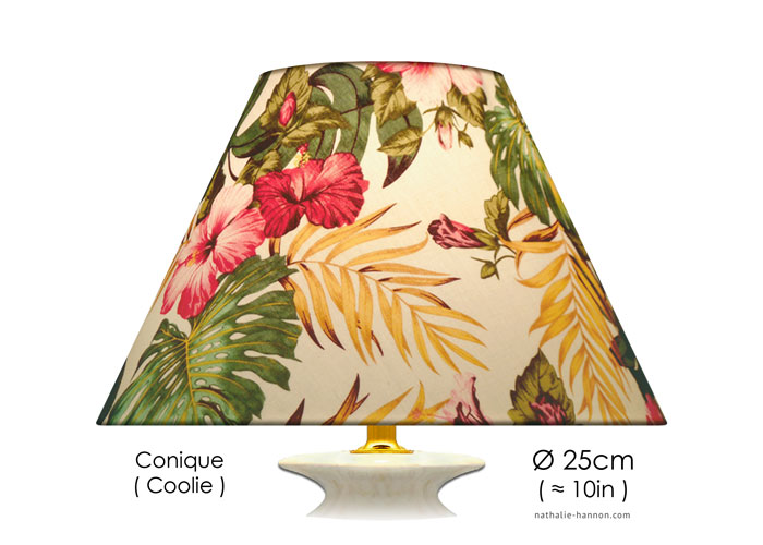 Lampshade Tropical Florals