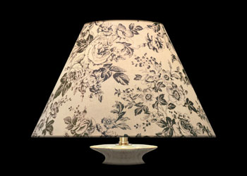 Lampshades Gray Florals