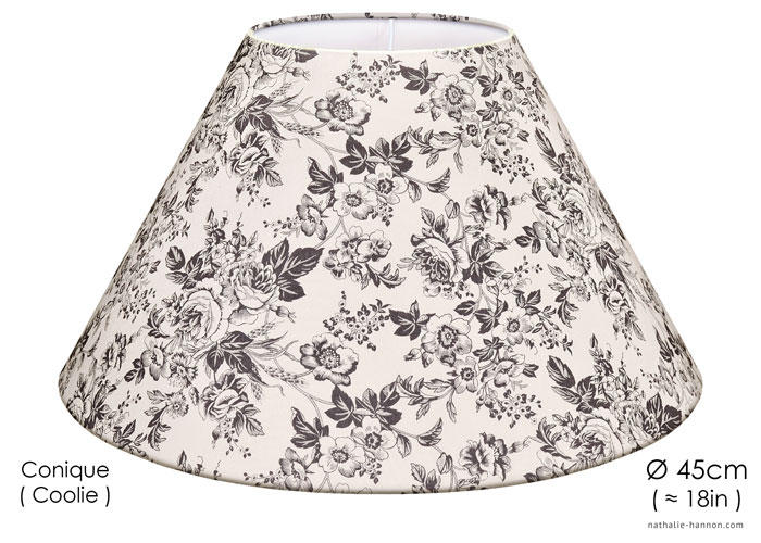 Lampshade Gray Florals