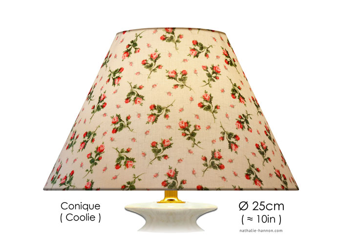 Lampshade Boutons de Rose