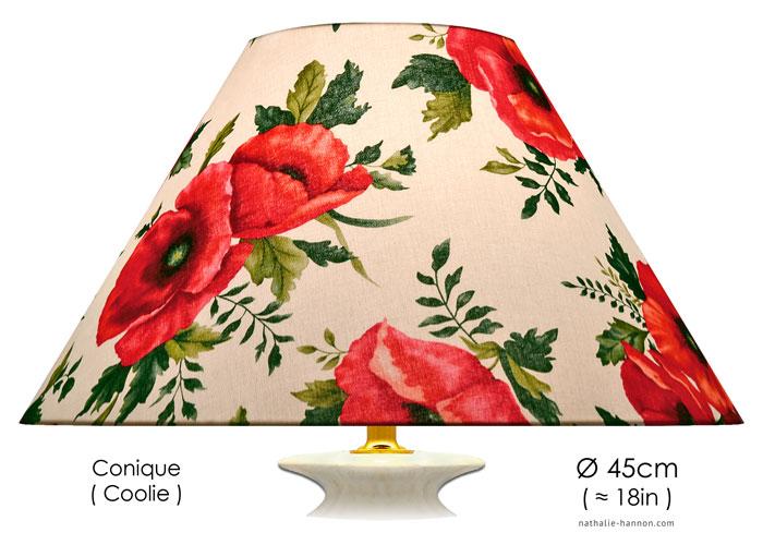 Lampshade Poppy Bouquet