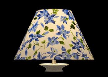Lampshades Ancolies Bleu