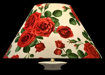 Lampshades Elegant Red Roses