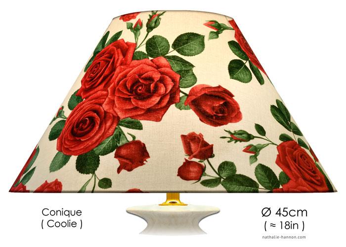 Lampshade Elegant Red Roses