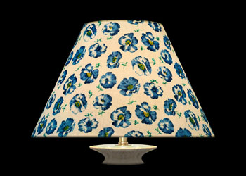 Lampshades Blue Poppies