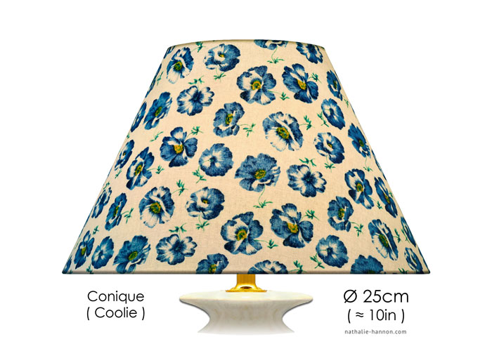 Lampshade Blue Poppies