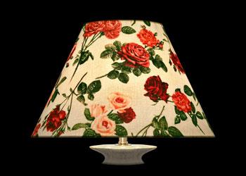 Lampshades Fresh Cut Roses
