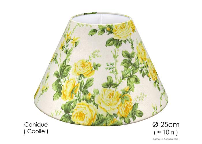Lampshade Yellow Garden Roses