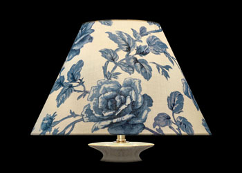 Lampshades Blue Garden Roses
