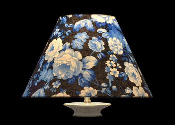 Lampshades Delft Blue Florals