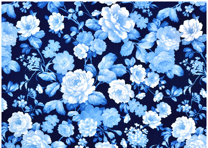 Lampshade Delft Blue Florals