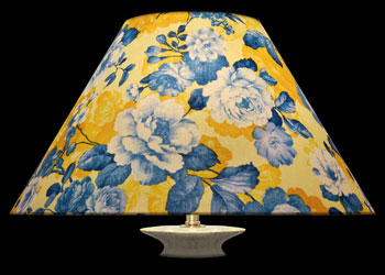 Abat-jour Delft Blue Florals on Yellow