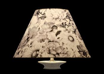 Lampshades Gray Vintage Florals