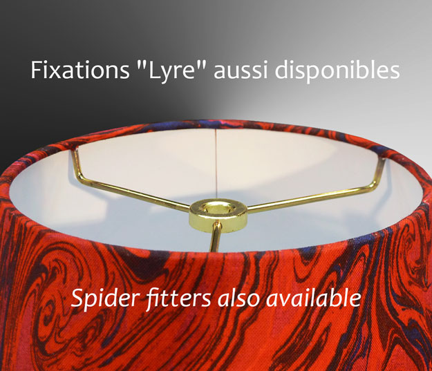 Nathalie Hannon Lampshades Spider Fitters