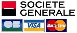 Société Générale - logo et cartes de paiements en ligne