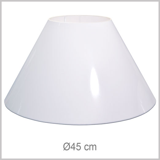 Large Coolie shaped lampshade with European fitter E27 for European lamp sockets