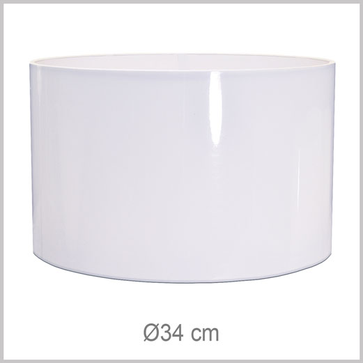 Large Cylinder shaped lampshade with European fitter E27 for European lamp sockets