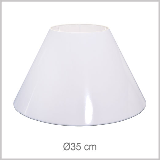 Medium Coolie shaped lampshade with European fitter E27 for European lamp sockets