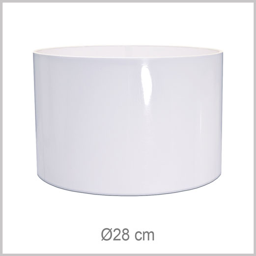 Medium Cylinder shaped lampshade with European fitter E27 for European lamp sockets
