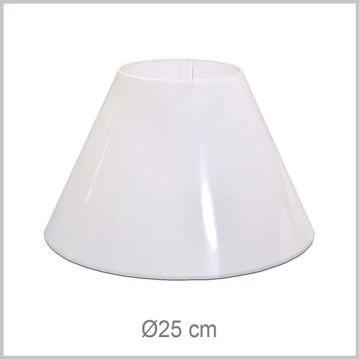 Small Coolie shaped lampshade with European fitter E27 for European lamp sockets