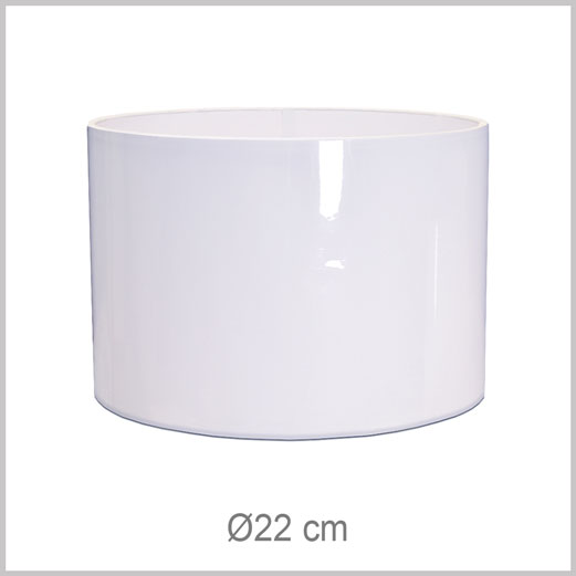 Small Cylinder shaped lampshade with European fitter E27 for European lamp sockets