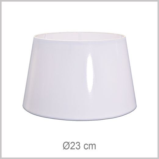 Small Drum shaped lampshade with European fitter E27 for European lamp sockets