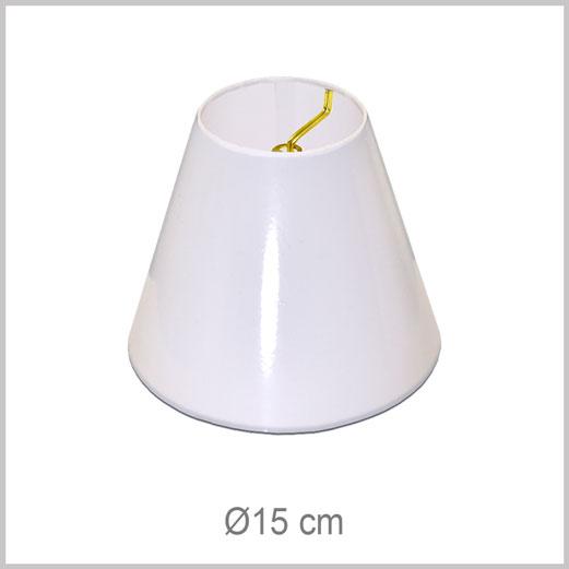 Abat-jour XS Petit Conique avec pince flamme pour ampoules style flamme pour chandeliers