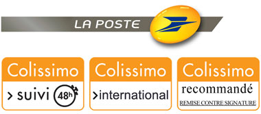 Nathalie Hannon Lampshades : LA POSTE shipping methods - tracking and registered