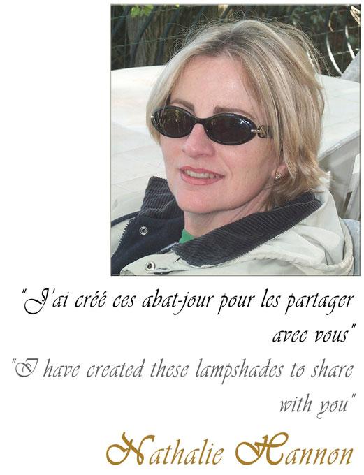 Nathalie Hannon styliste en France d'abat-jour originaux sur mesure
