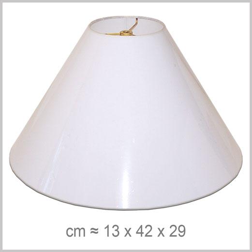 Grand abat-jour forme Conique avec fixation Lyre pour Lyre Américaine standard