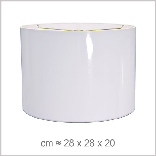 Medium Cylinder shaped lampshade with an American spider fitter for harps