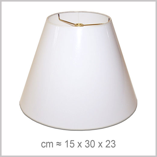 Medium Empire shaped lampshade with an American spider fitter for harps