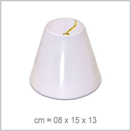 XS Small Coolie flame clip-on chandelier lampshade for candelabra light bulbs