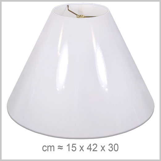 Large Coolie shaped lampshade with an American spider fitter for harps