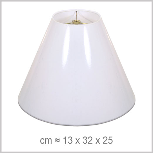 Medium Coolie shaped lampshade with an American spider fitter for harps