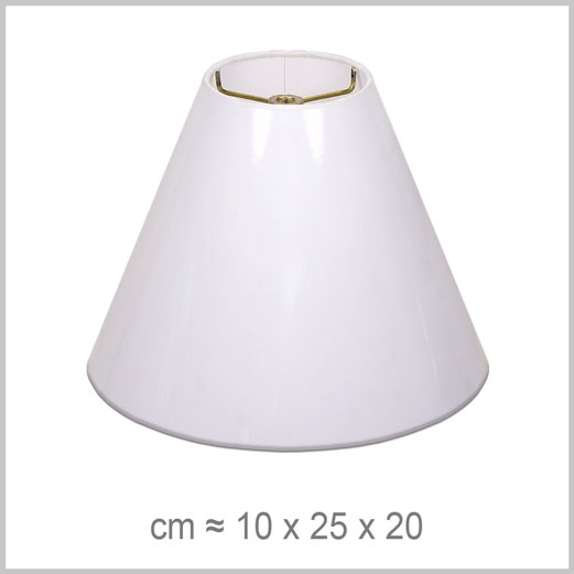 Small Coolie shaped lampshade with an American spider fitter for harps