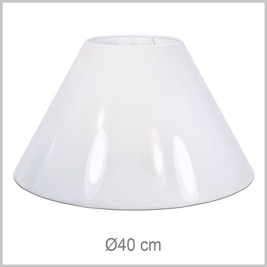 Medium/Large Coolie shaped lampshade with European fitter E27 for European lamp sockets