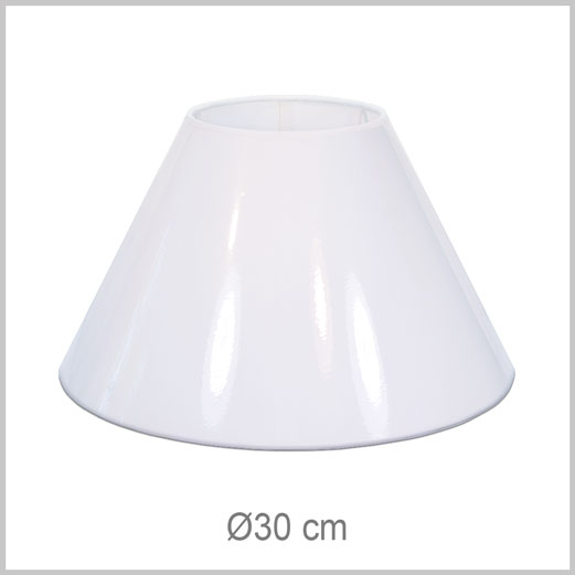 Small/Medium Coolie shaped lampshade with European fitter E27 for European lamp sockets